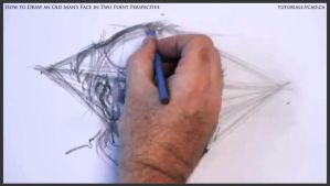 Draw An Old Man's Face In Two Point Perspective 24 by drawingcourse