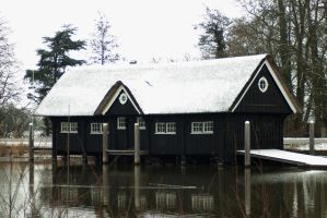 Boathouse along the Vecht by steppeland