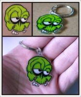 Green Skull Shrinky Dink by Vectorcrazy