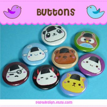 Buttons - Onigiri by Papacan