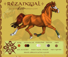 Rezangyal Reference Sheet by green-ermine