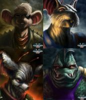 Biker Mice From Mars : Digital Paintings by AtomiccircuS
