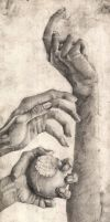 Arch - Drawing - Hands by MacDoninri