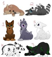 Adoptable Puppies Open by iheartart132