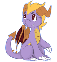 +GA  chibi Spyro+ by never-coming-back