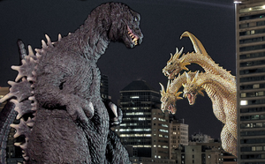Godzilla vs King Ghidorah by TheSpiderAdventurer