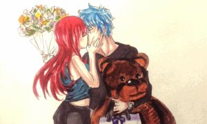 fairy tail : Erza and Jellal (Jerza) by BakaAden