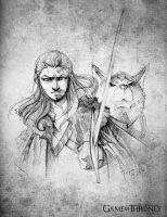 G.O.T: Arya and Nymeria by tepaipascual