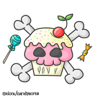 Skull Cupcake ID by candysores