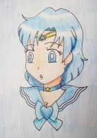 Sailor Mercury Head by Punisher2006