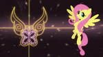 Fluttershy element wallpaper by Elsdrake