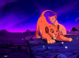 Simba and Nala by Nizira-Hathor