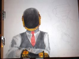 Daft punk poster WIP by Seigman-Alice