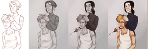 Hair Cut - Progress by Lady-Hayes
