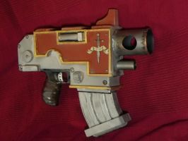 Space Marine bolt pistol by Sam-Castle