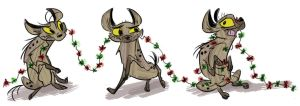 christmas hyenas by coffeebandit