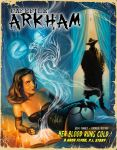 Casefile: Arkham - pulp-style cover by PatrickMcEvoy