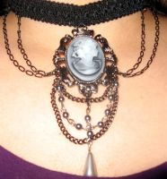 Choker - Gothic Cameo by shadowhawk225