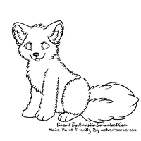 Fluff Pup Free Lineart -paint friendly- by Wolven-Sorceress