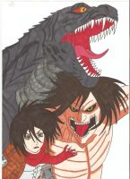Attack on Titan Godzilla - WE FIGHT AS ONE by Tyrannuss555