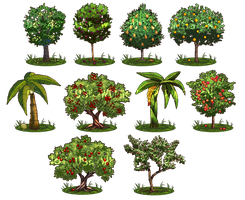 Game Items - Trees by IntroducingEmy