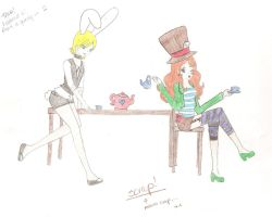 Mad Hatter and the March Hare by t-tasha