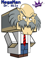 Cubeecraft of Dr. Wily from MegaMan by SKGaleana