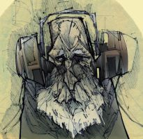 Concept Art Old Man by Mims1105