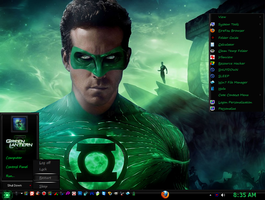 Win7 Green Lantern Theme by E-MC-2