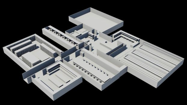 Current  3D project- Underground Base by JWright-3D-Graphics