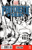 Fantastic Four #1 (Galactus sketch) by SpiderGuile
