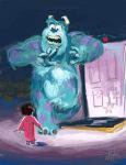 Monsters Inc Speedpaint by artsyfartsyness