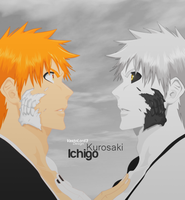 Ichigo and Hollow Ichigo by VastoLord3