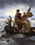 Mr B and family crossing the Delaware by dashinvaine