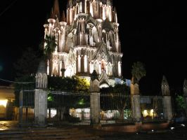 San Miguel  Allende Cathedral by molksal