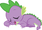 Sleeping Spike Vector by scrimpeh