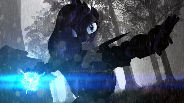 Luna, The princess warrior. by Opty-Face