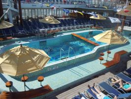 Carnival Fantasy Bahamas Cruise: One of the Pools by Ice-Artz