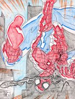 Spider-Man Coloured pencil by jonathan-rector