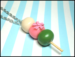 Hanami Dango Sale Necklace by GrandmaThunderpants