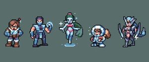Icey videogame characters by AlbertoV