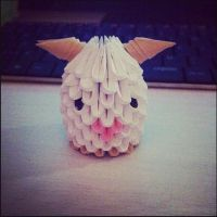 3D Origami: Poro (League of Legends) by StaticCatnip