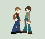 Dean and Sam PSWG style by FourDirtyPaws