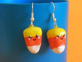 Candy Corn Cuties Earring by ImperfectKawaii