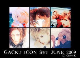 Gackt icon set by BibiannaLanana