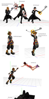 Kingdom Hearts Related Pose Data + DL by Fly-Into-The-Sunset