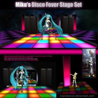 MMD Miku's Disco Fever Stage Set by Trackdancer