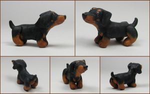 Little Dachshund Sculpture by LeiliaClay