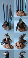 Excadrill pencil stand by Weirda208