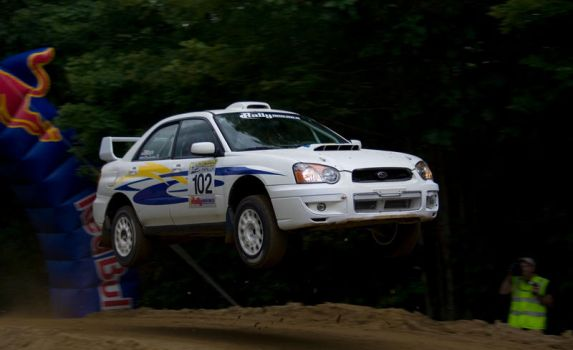 New England Forest Rally Jump by DM75